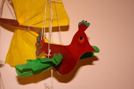 Поделки из бумаги и картона- птичка