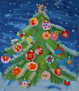 Поделки из пластилина - Новогодняя елка