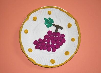 Поделки из пластилина - Виноград