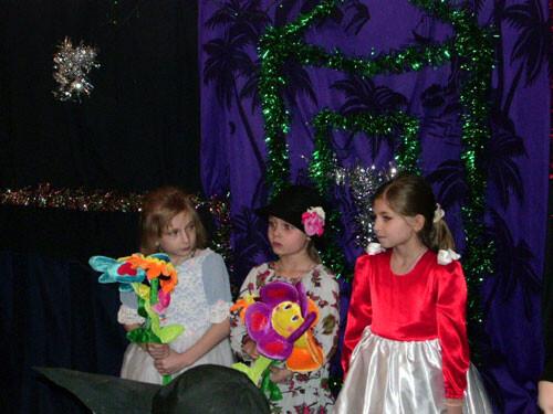 Рождественский праздник 2008. Цветы в волшебном саду.