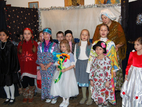 Рождественский праздник 2008. Участники спектакля.