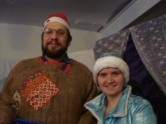 Рождественский праздник - Петрущка и Снегурочка